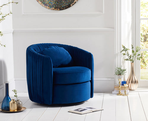 The Kelsie - Velvet Swivel Chair
