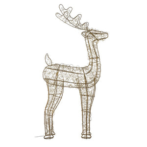 The Dancer - Large LED Deer Gold/Silver