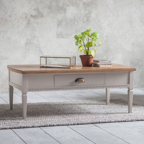The Eleanor - Taupe 1 Drawer Coffee Table