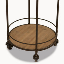Load image into Gallery viewer, The Francesca - Round Iron Drinks Trolley