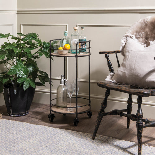 The Francesca - Round Iron Drinks Trolley