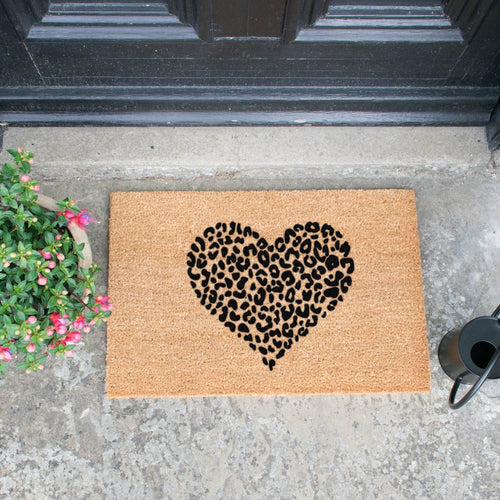 The Lucinda - Leopard Heart Doormat