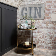 Load image into Gallery viewer, The Imogen - Gold & Black Drinks Trolley