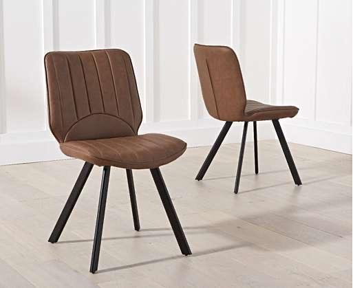 The Laura - Faux Leather Chairs (Pair)