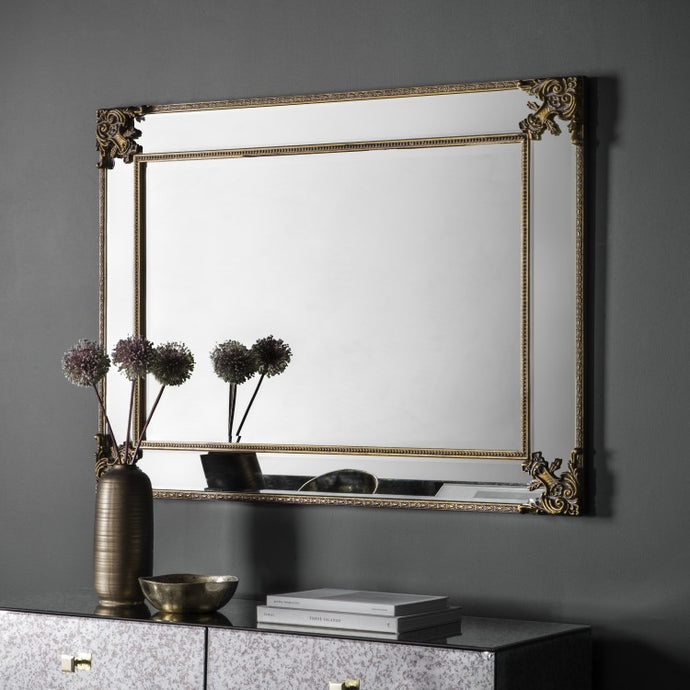 The Leigh-Anna - Rustic Gold Mirror
