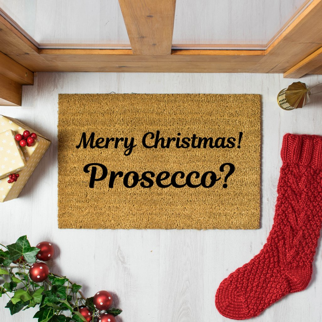 The Lucinda - Christmas Prosecco Doormat