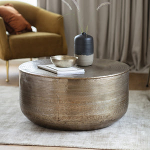 The Olivia - Bronze Round Coffee Table