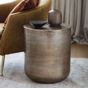 The Olivia -Bronze Round Side Table