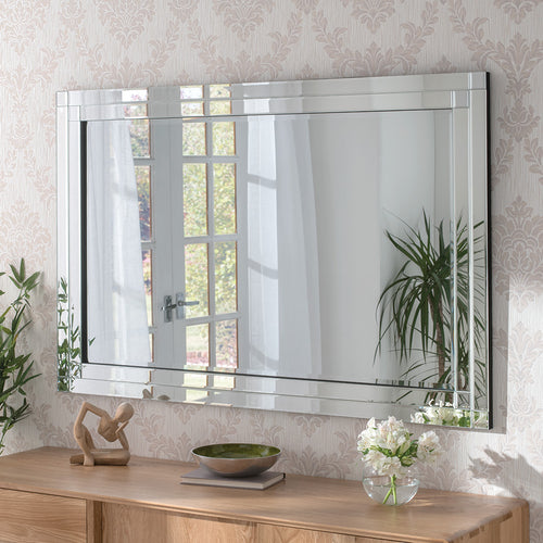 The Remi- Rectangular Glass Framed Mirror