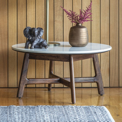 The Shona - Marble Round Coffee Table