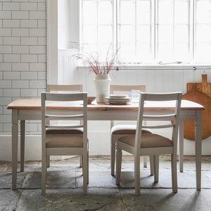 The Eleanor -Taupe Extending Dining Table & Chairs