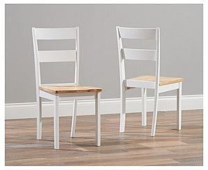 The Tessa - Solid Hardwood Chairs (Pair)