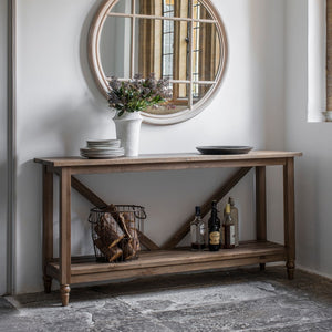 The Amaris - Trestle Oak Console Table