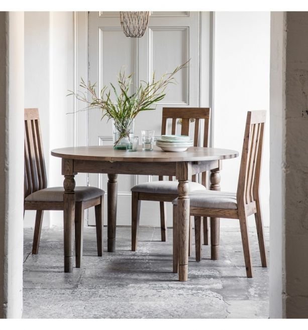 The Amaris Round Extending Dining Table Oak