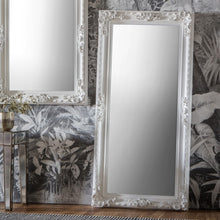 Load image into Gallery viewer, The Nicole - Silver Ornate Leaner Mirror
