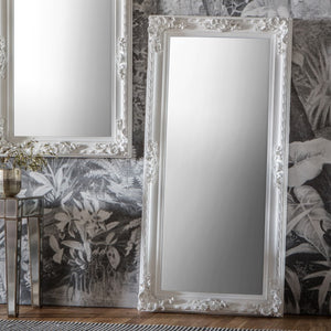 The Nicole - Silver Ornate Leaner Mirror