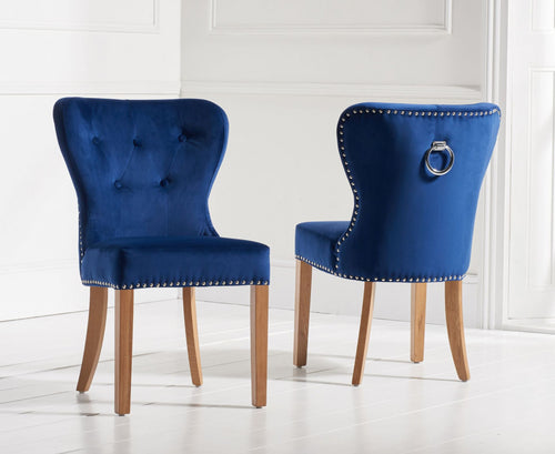 The Zara - Blue Velvet Chairs
