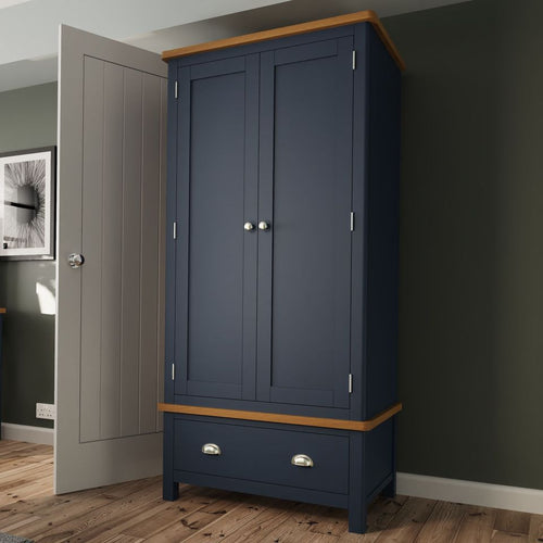 The Jaymie - Blue 2 Door 2 Drawer Wardrobe