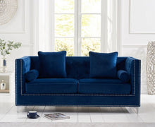 Load image into Gallery viewer, The Anya - Emerald Green Velvet 3 Seater Sofa