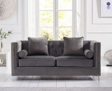Load image into Gallery viewer, The Anya - Blue Velvet 3 Seater Sofa
