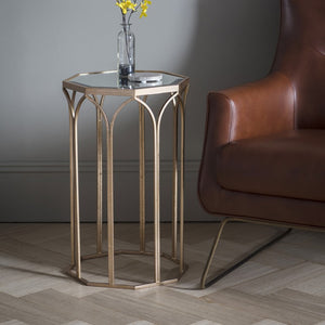 The Charmaine -  Glass Top Side Table