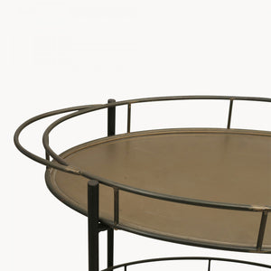 The Francesca - Oval Iron Drinks Trolley