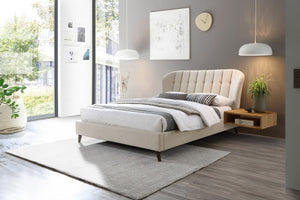The Gabriella - Upholstered Warm Stone Bed