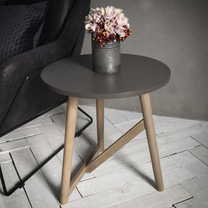 The Geraldine - Round Side Table Grey