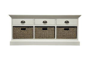 The Lexi - 3 Drawer 3 Basket Unit / Sideboard