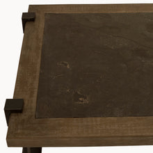 Load image into Gallery viewer, The Natasha - Oak & Iron Coffee Table with Stone Top