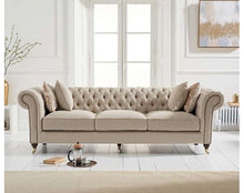 Load image into Gallery viewer, The Charlotte - Three Seater Chesterfield Sofa