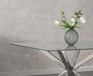 The Lauren - Square Glass Dining Table