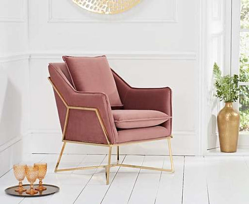 The Julie - Blush Velvet Chair