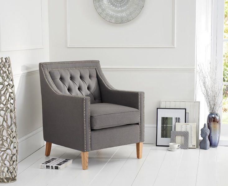 The Kate - Grey Fabric Armchair