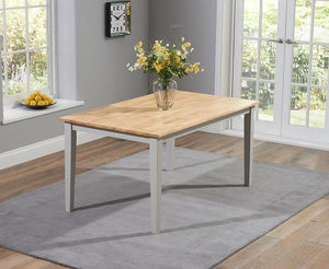 The Tessa - 150cm Oak & Grey Dining Set