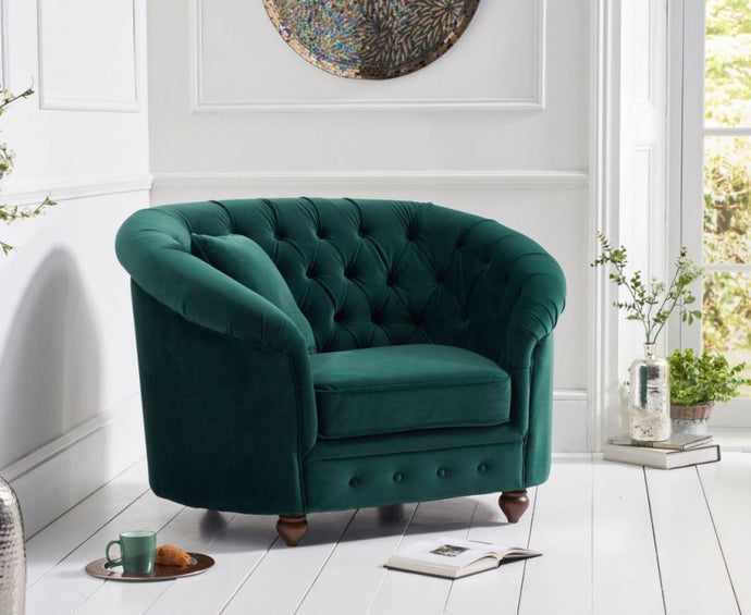 The Alicia - Emerald Green Armchair