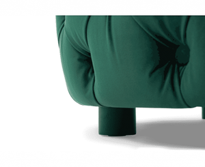 The Kinsley - Velvet Green Round Footstool