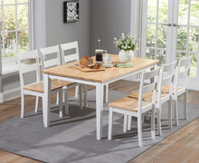 Load image into Gallery viewer, The Tessa - 150cm White & Oak Dining Set