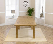 Load image into Gallery viewer, The Maeve - 220cm Oak Dining Set with Grey Fabric Chairs