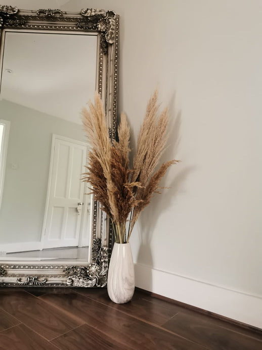 The Yasmine - XL Mixed Beige Fluffy Pampas Grass