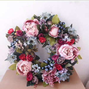 The Stella -  Spring Berry Peony Wreath