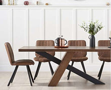 Load image into Gallery viewer, The Laura - Oak & Black Metal Leg Dining Set