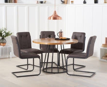 Load image into Gallery viewer, The Harriet - 110cm Dining Set with 4 Chairs