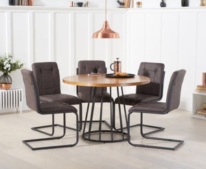 The Harriet - 110cm Dining Set with 4 Chairs