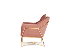 Load image into Gallery viewer, The Julie - Blush Velvet Chair