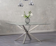 Load image into Gallery viewer, The Lauren - Square Glass Dining Table