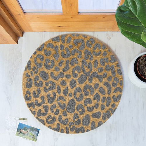 The Lucinda Large - Leopard Door Mat