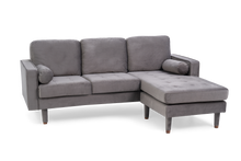 Load image into Gallery viewer, The Liv - Grey Velvet Corner Sofa