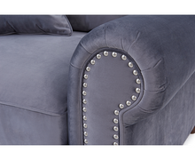 Load image into Gallery viewer, The Celia -  Grey Plush Fabric 3 Seater Sofa