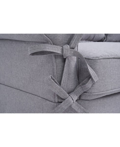 The Kylie - Grey Linen Three Seater Sofa